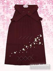 【和の志】卒業式に◇女性用無地刺繍袴◇Mサイズ◇エンジ系
