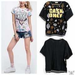 925-303246大きいサイズ☆バックシースルーTシャツ☆5L