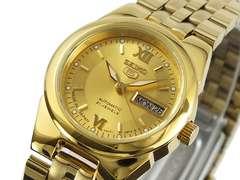 セイコー SEIKO セイコー5 SEIKO 5 オート 腕時計 SYMG80J1 ゴールド