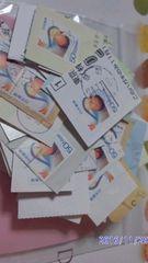 使用済み切手・・オシドリ・50枚