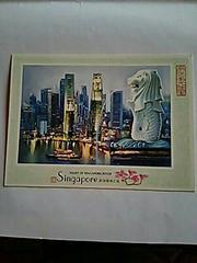 マーライオン シンガポール ポストカード 夜景