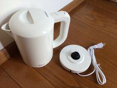 新品 DRETEC (ドリテック) 電気ケトル ラミン ホワイト PO-323WT