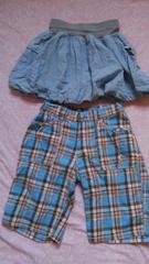 女児バルーンスカート、ズボンのセット160