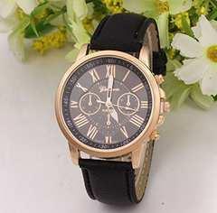 超買い得★600円★クロノグラフタイプの腕時計 茶 保証付き