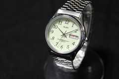セイコー アルバ メンズ腕時計 クオーツ デイデイト