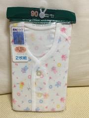新品未開封:サイズ90:長袖シャツ(女の子)2枚組