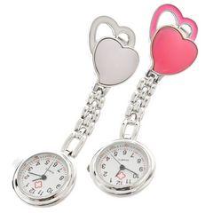 ハートナースウォッチ ピンク&ホワイト 懐中時計 看護士