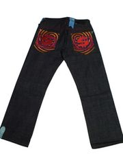 セール新品SHMACKシュマック★バックデザインジーンズW34デニム大きいサイズ