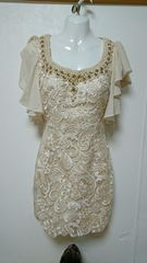 Alice  袖フレア ビジューミニドレス・ナイトドレス