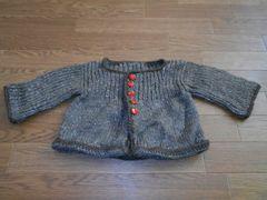子供服★ハンドメイド 毛糸のコート 茶色