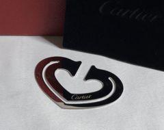 正規美 Cartierカルティエ ハートマネークリップ シルバー 財布 名刺入れ 付属有