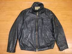 80年代 フランス軍 フライトジャケット 濃紺 Lサイズ