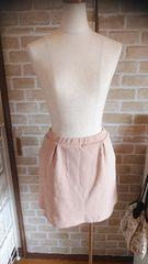 ウェストゴム ピンクベージュ スカート Mサイズ