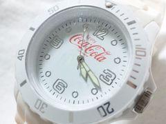 8201/コカコーラ★非売品ホワイトウレタンモデル未使用メンズ腕時計格安