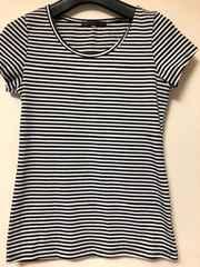 白黒ボーダーTシャツ らくらく定額便180
