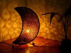 ムーンランプ36cm☆バリバンブーランプ☆アジアンリゾートホテル仕様 照明