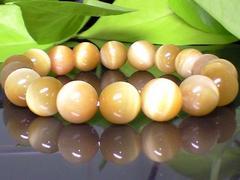 激安天然石☆高級ゴールドタイガーアイ金色虎目10ミリ☆数珠