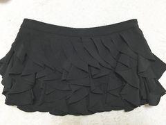 rienda黒フリルミニスカートショーパンブラックショートパンツ