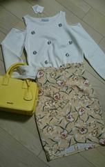 500円スタートsnidel美品 花柄スカート サイズ1