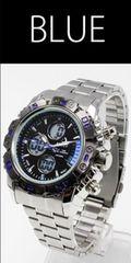 NEW★アナログ&デジタル・ビッグフェイス腕時計FSMB1BL
