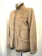 【URANUS】ムートン風ジップアップジャケットコート