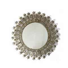 壁掛けデコレーションミラー ビーズ鏡 姫 ageha インテリア