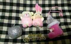 ドール ミニチュア 小物 クリスマス用セット ぬいぐるみ ブーツ