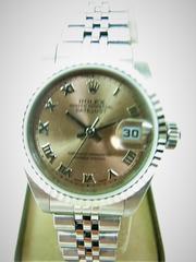 婦人時計 ロレックス ROLEX 79174 ピンク ローマ レディース