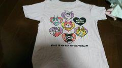 即決☆150�aユニクロ☆妖怪ウォッチピンクの半袖Tシャツ