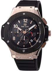 megir 腕時計 新品 ブラック ゴールド インポート