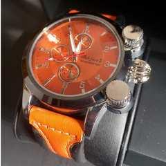 綺麗なオレンジ本革★【clubface】メンズ腕時計