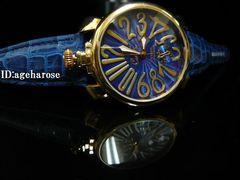 新品 定形外可能 腕時計 48mm ブルー/ガガミラノ好きに