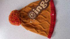激安84%オフインガ、ニット帽子2個(新品タグ、茶赤、日本製、フリー)