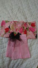 206・難アリ 送込 新品☆ハンドメイド お宮参り 羽織袴風ドレス