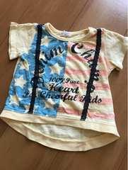 Tシャツ/国旗/騙しレースサスペンダー