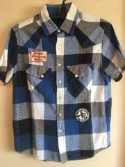 美品☆クリフメイヤーmen'sM☆ブロックチェック半袖シャツ