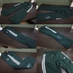 送料込(XO 緑)アディダス ウィンドブレーカーパンツ DUQ94 中綿入りロングパンツ