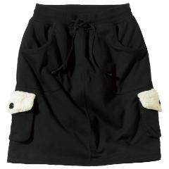新品冬用大きいサイズ裏ボアスカート黒5L