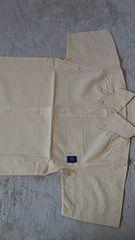 新品☆110�p・フェリシモ 半袖黄色チェックのシャツ