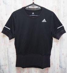 adidas アディダス 叶衣スピード 半袖Tシャツ KANOI 黒 S