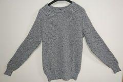 無印良品 畦編みセーター グレー 美品  Lサイズ
