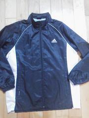 アディダスadidas160サイズシャカシャカジャンパー黒