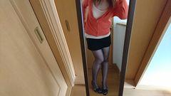 大好きcolorのオレンジ色パーカー☆GU☆Mサイズ☆綿100%☆