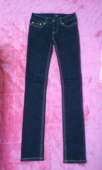VENCE 濃い色スリムジーンズ サイズ24 新品に近い 激安