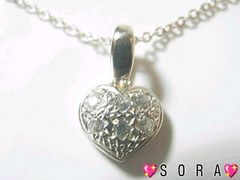 【SILVER 925刻印入】ハートネックレス�T