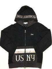 TOMMY NYC ジップパーカー sizeM ブラック(黒) 綿100%