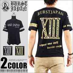 メール便送料無料【MAD BURST JAPAN】70722Tシャツ黒金L