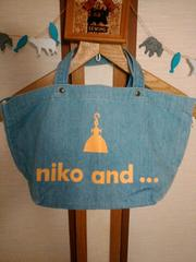 niko and  …*デニム生地ミニトートバッグ
