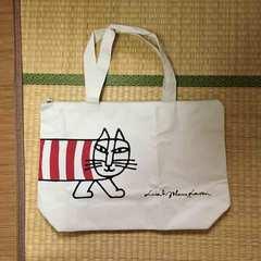 BOSS×リサラーソン・猫のマイキー柄ファスナートートバッグ