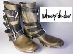 フープディドゥwhoop'-de-doo'ベルテッド風ブーツ107332GY25.5
